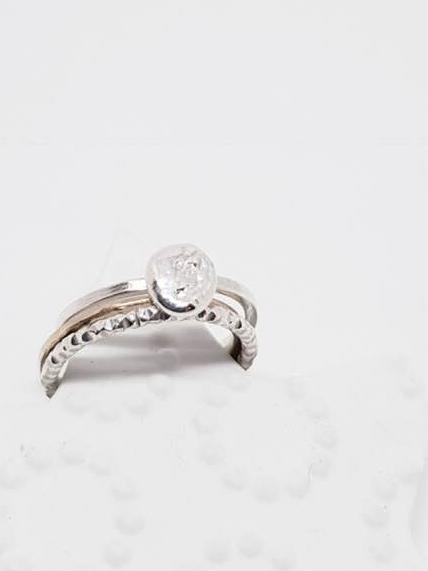 bracelet ruban, bijoux fins en argent