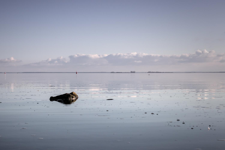 Ruhe über Ostsee und Strelasund.