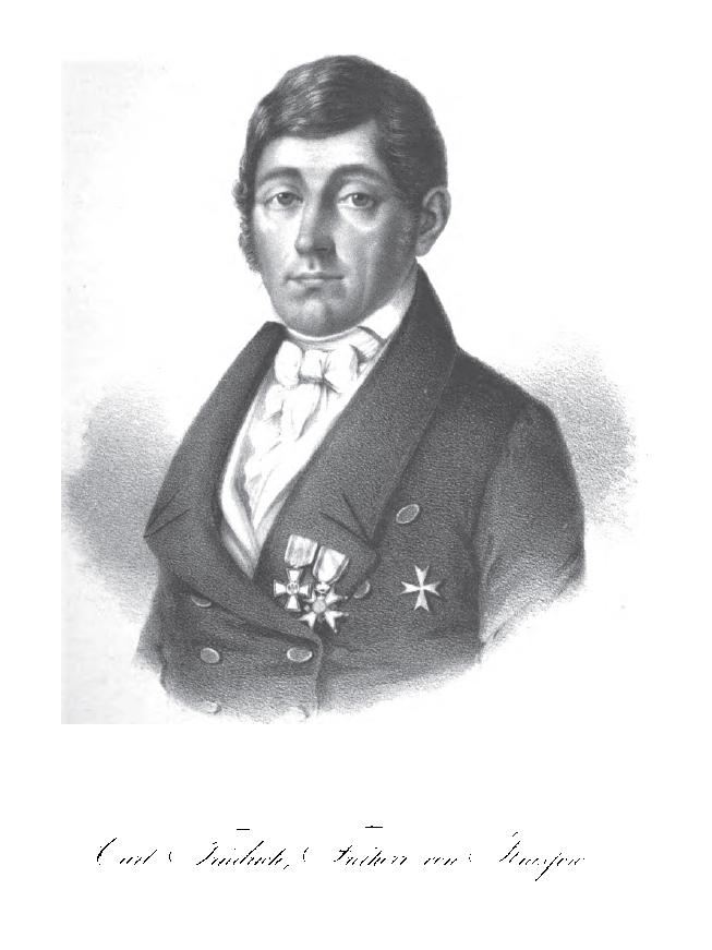 Carl Freiherr von Krassow (1771 - 1854): Oberstleutnant der Königlichen Schwedischen Armee und Preußischer Politiker. Nahm an Friedensverhandlungen mit  Napoleon teil. Zuletzt in den Grafenstand erhoben. (Bildquelle: Wikipedia)