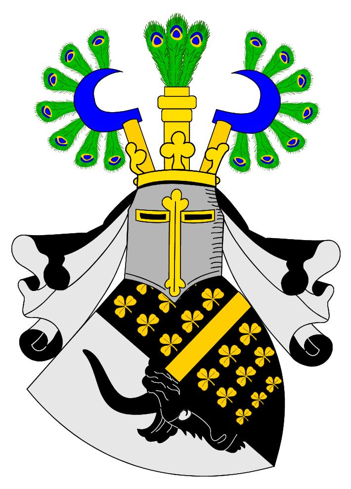 Das Krassow'sche Familienwappen, stellvertretend für Ernst Detlof von Krassow. Generalleutnant der Königlichen Schwedischen Krone, kämpfte in vielen Kriegen, wovon der Große Nordische Krieg (1700 - 1715) wohl der wichtigste war. (Bildquelle: Wikipedia)