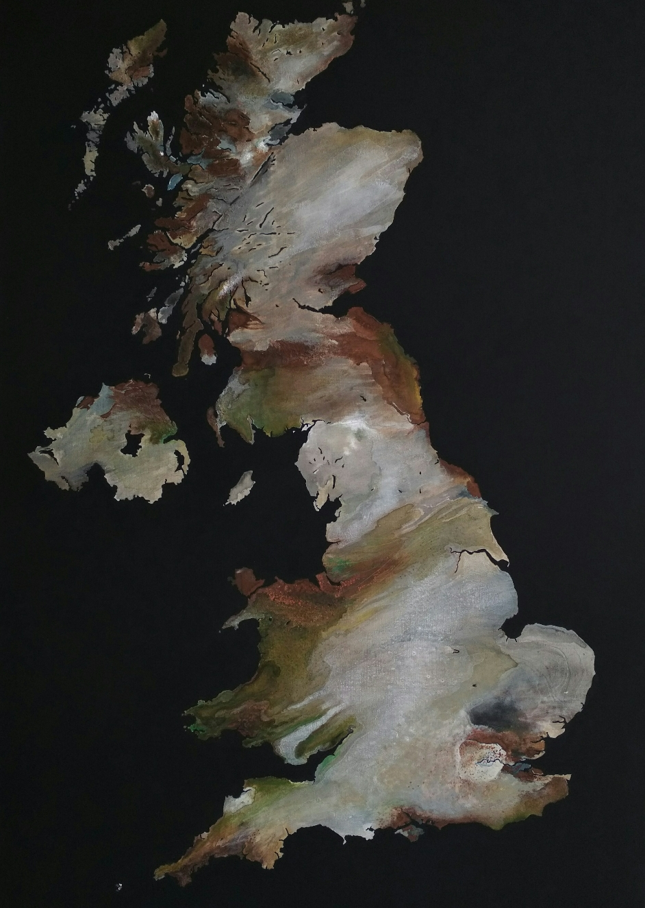 Remote Sensing UK, 60x90cm, in private collection