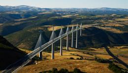 Vue aérienne du Viaduc de Millau