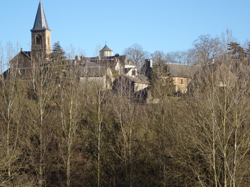Le village de Gagnac en Aveyron derrière les arbres - Gite La Garde - Gagnac 12310