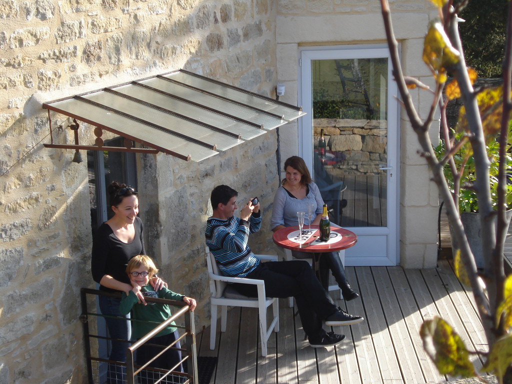Gite La Garde Gagnac en Aveyron - Terrasse close - coin intime