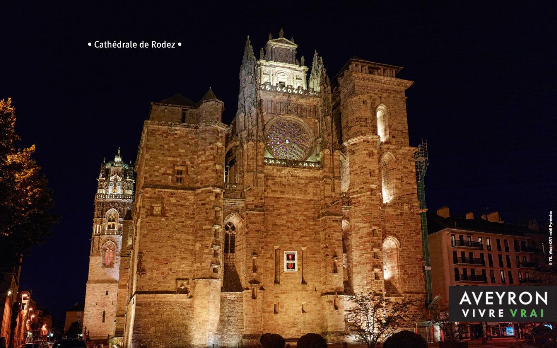 La cathédrale de Rodeez - Gite La Garde - Gagnac 12310