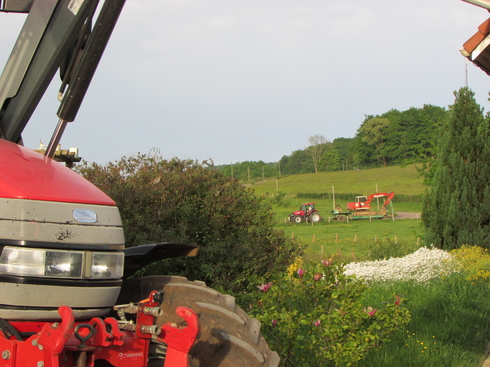 Mc cormick et tracteur d'essai