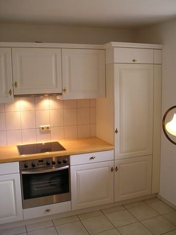 Landhausküche Fichte massiv weiß lackiert