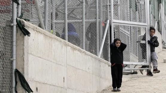"""Das Auffanglager """"Moria"""" auf der griechischen Insel Lesbos. (Orestis Panagiotou, dpa picture-alliance)"""