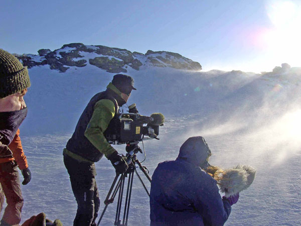 Bergauf-Bergab auf dem Arbergipfel, März 2011