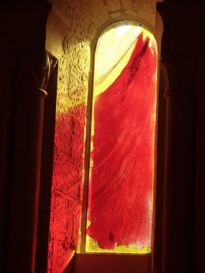 Les vitraux de St martin : le partage du manteau