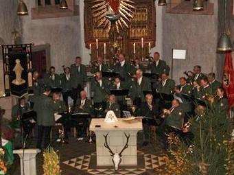 Hubertusmesse in der Pfarrkirche St. Mariä Himmelfahrt, Blankenheim Nov. 2013