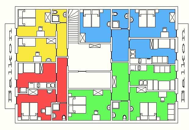 Unsere Ferienwohnungen im 2. Stock