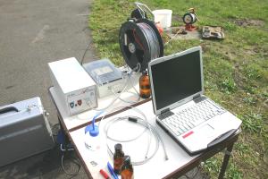 Direkte Datenerfassung mit dem Fluorometer in einer Messstelle auf einem Teststandort (VEGAS)