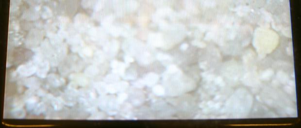 Quarzsand: Aufnahme mit der Sondenkopfkamera