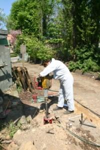Rammsondierung zur Gewinnung von Bohrkernen und Bodenprofilen