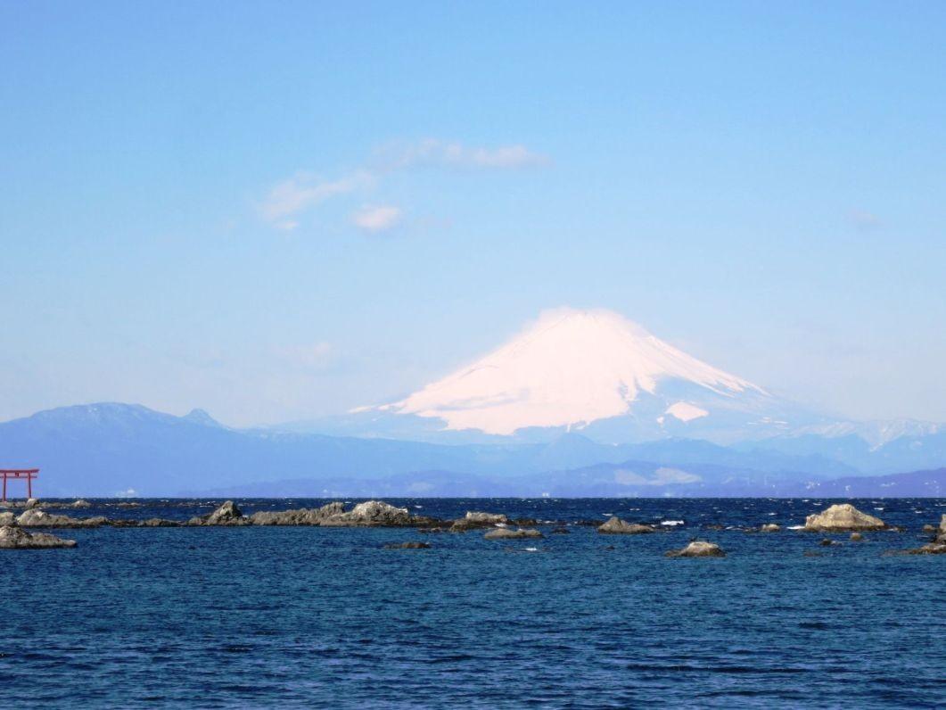 9:27 晴天で風強し,富士山絶景
