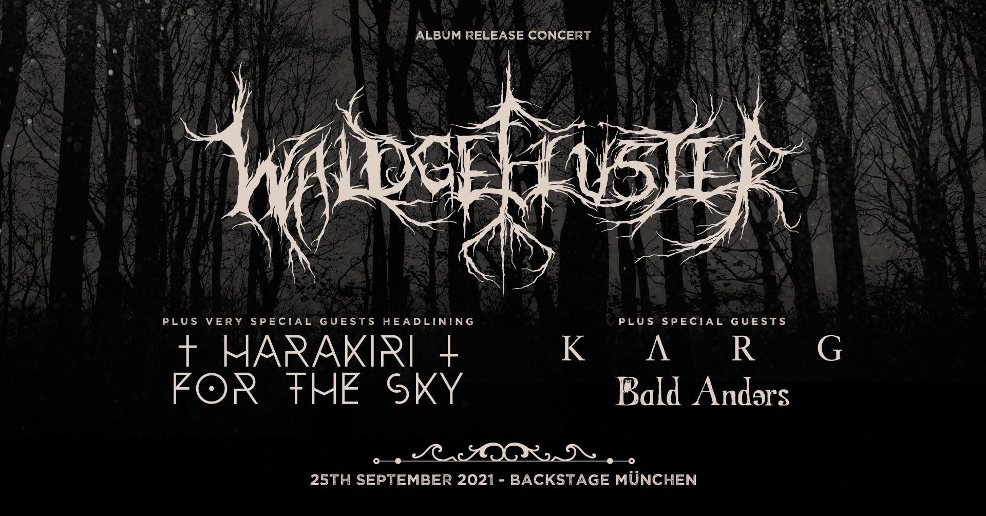 Konzertbericht von Harakiri For The Sky + Waldgeflüster + Karg + Bald Anders || 25.09.2021 || Backstage München