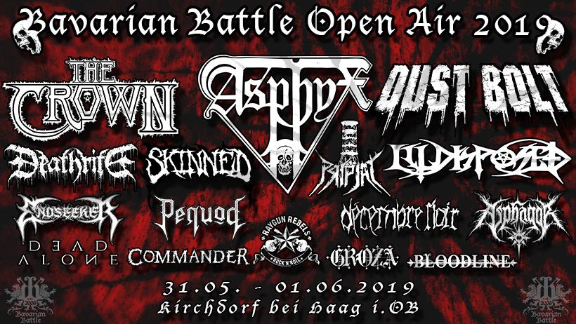 Line Up BBOA 2019 | Quelle: www.facebook.com/BavarianBattleOpenAir.official/