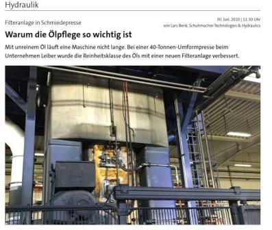 Warum die Ölpflege so wichtig ist, unser Artikel bei www.fluid.de