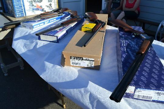 Les lots fusils et carabines