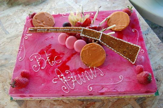 Le super Gâteau offert par Joel Neau à son club et ses invités