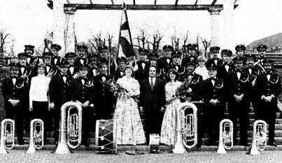 Die Arbeitermusik Solothurn (AMS Brass Band) im Jahre 1980.