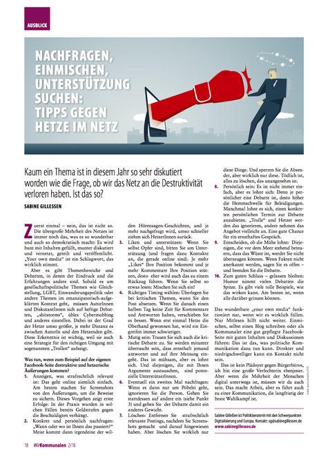 """""""Wir Kommunalen"""" 2/2016"""