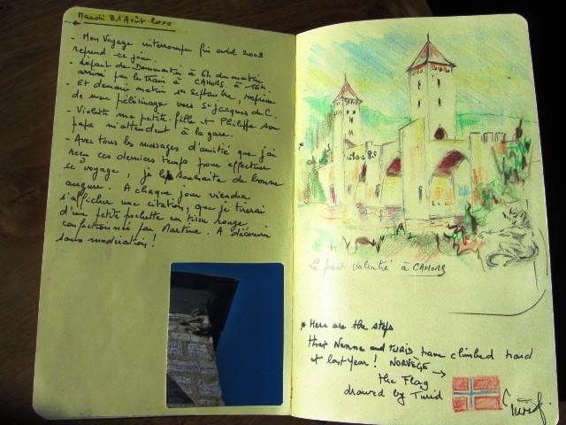 Chemin de Compostelle, voie du Puy : Cahors ,ville étape ,chemin de Compostelle