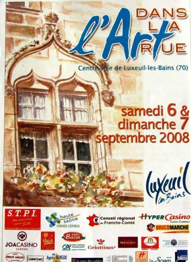 Mon aquarelle pour l'affiche l'art dans la rue Luxeuil