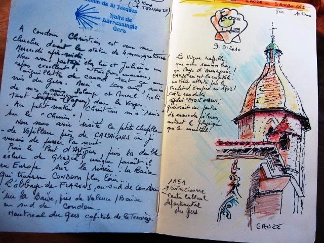 Chemin de Compostelle, voie du Puy : carnet de voyage.
