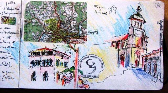 Chemin de Compostelle, voie du Puy : Champollion ,découvreur des hyérogliphes est né à Figeac