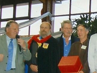 Rencontre avec Raymond Poulet à Zillisheim 68, en présence des officiels.