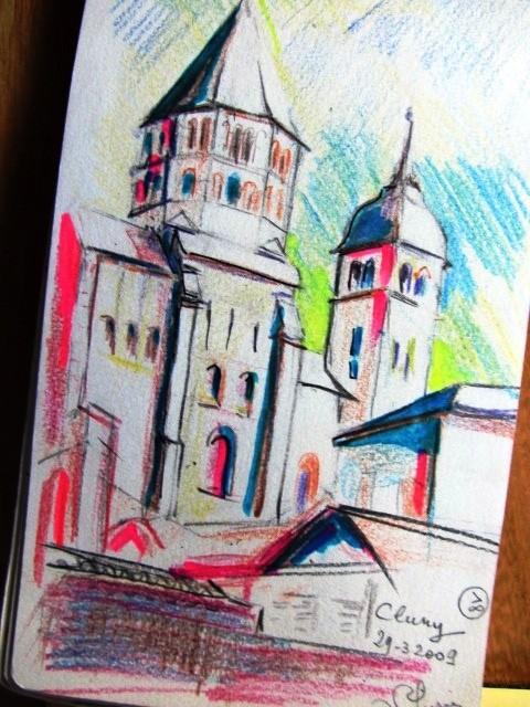 Compostelle :cluny,ville historique,au patrimoine religieux important.
