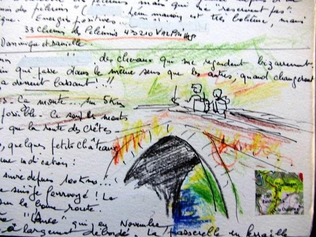 Chemin de Compostelle, voie du Puy : Valprivas ,village accueillant.