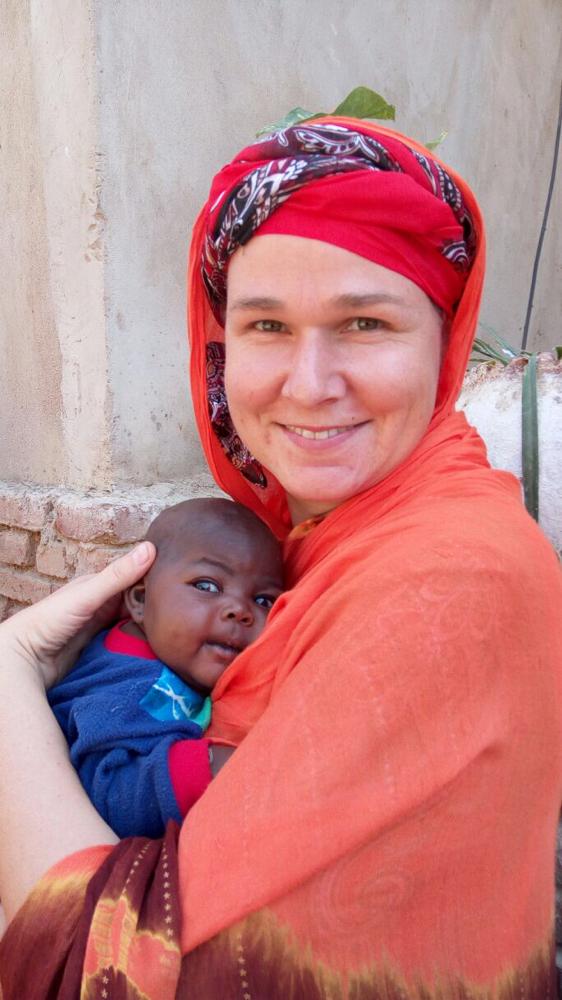 bei einem Hausbesuch mit einem 1 Monat altem Neugeborenen
