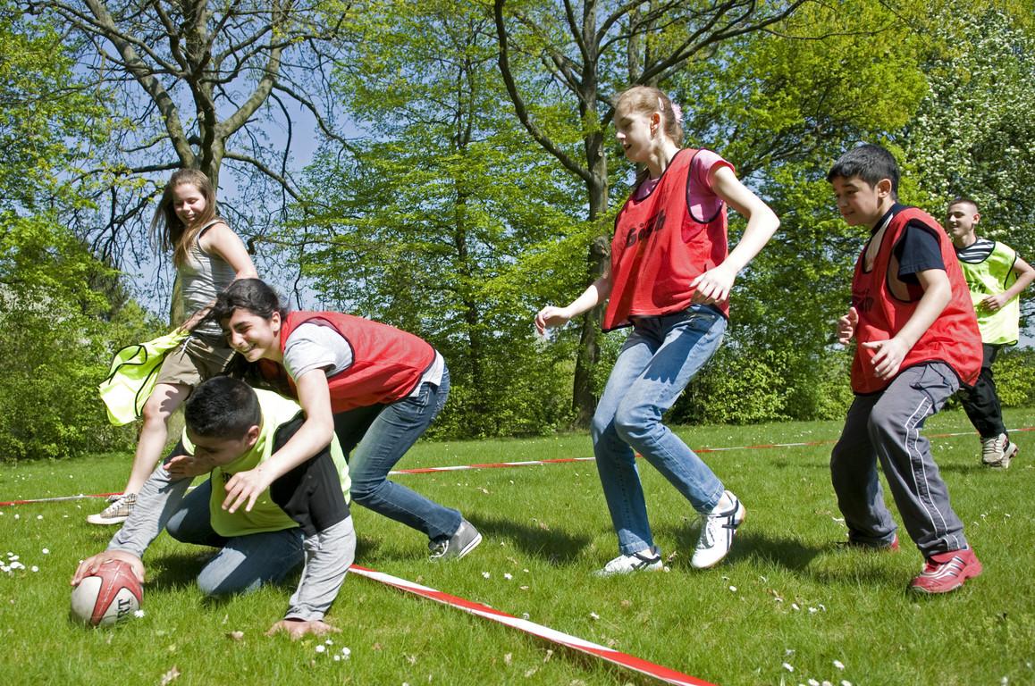 Training auf dem Rasen - Der Versuch