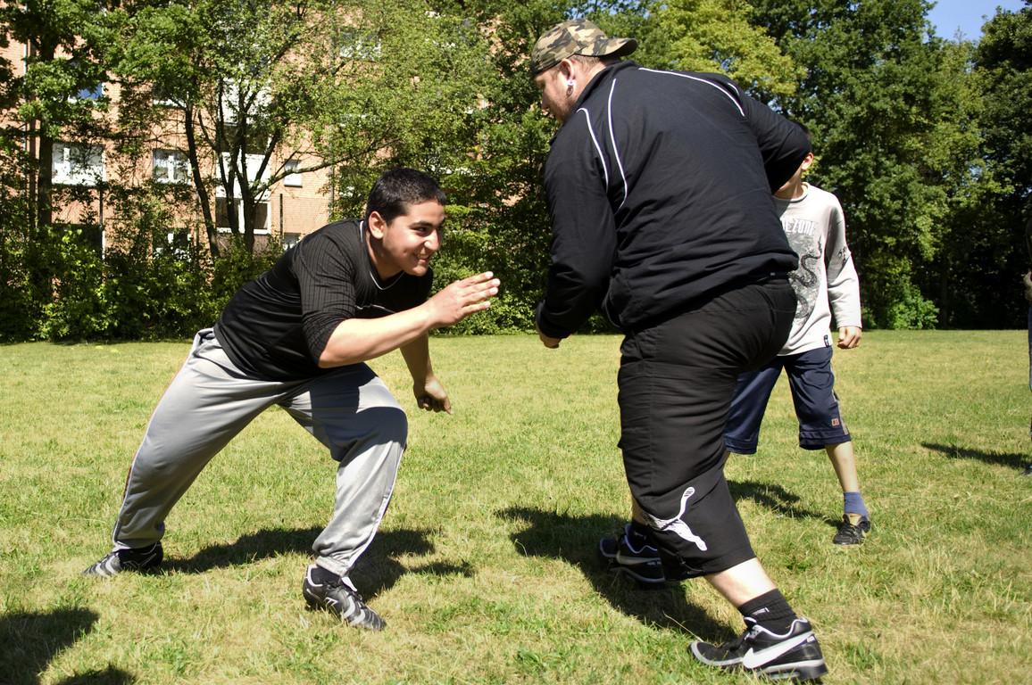 Training auf dem Rasen - Die Verteidigung
