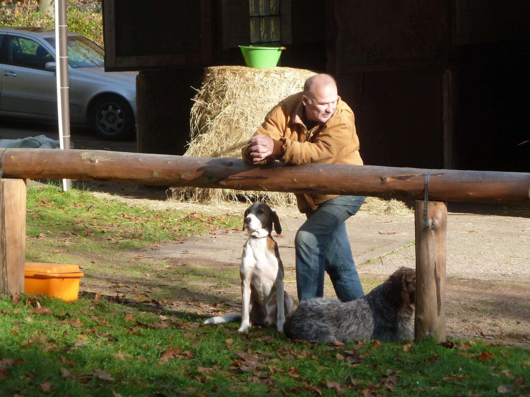 Rüdiger mit den Hunden