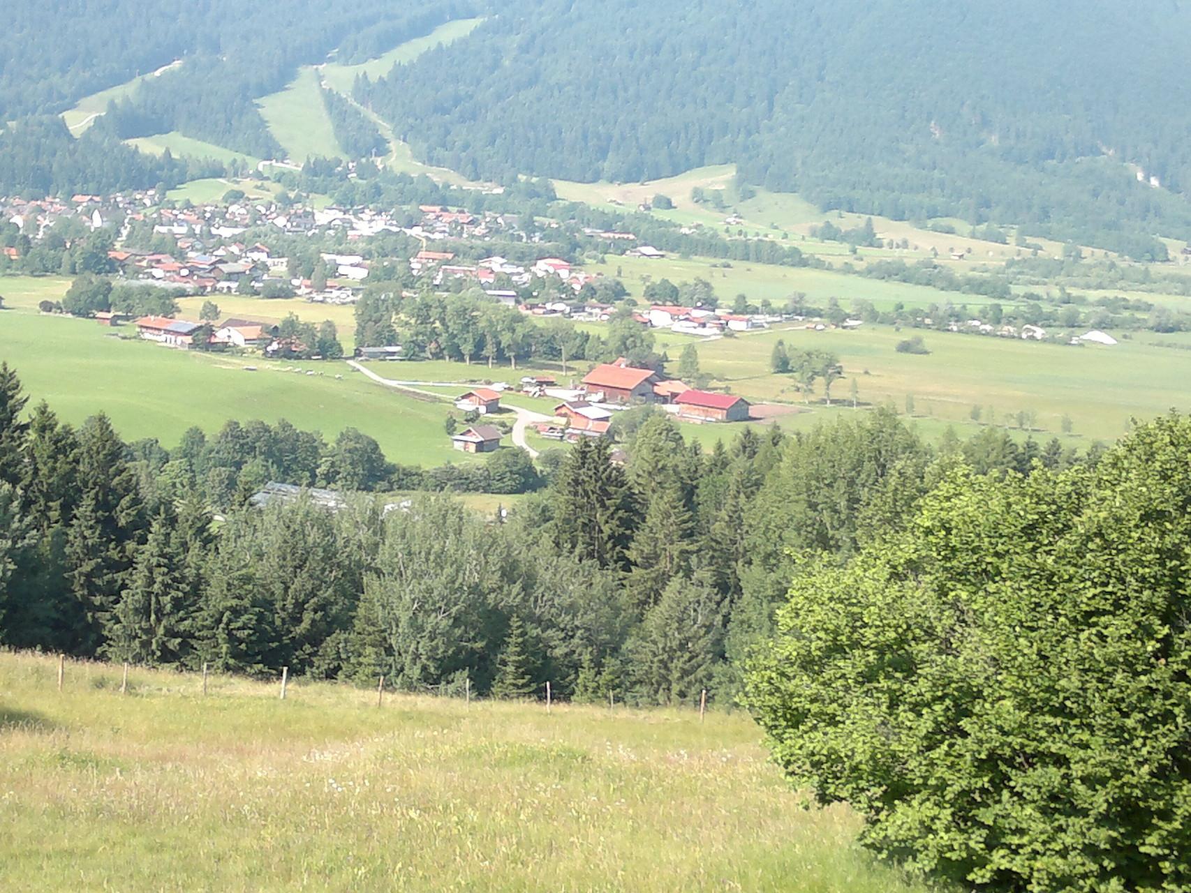 Sicht auf Oberammergau