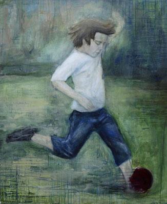 Max, Acryl auf Baumwollgewebe, 90 x 110 cm, 2010