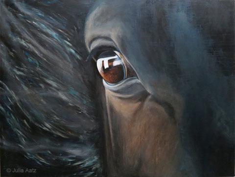 Auge, Acryl auf Baumwollgewebe, 120 x 160 cm, 2014