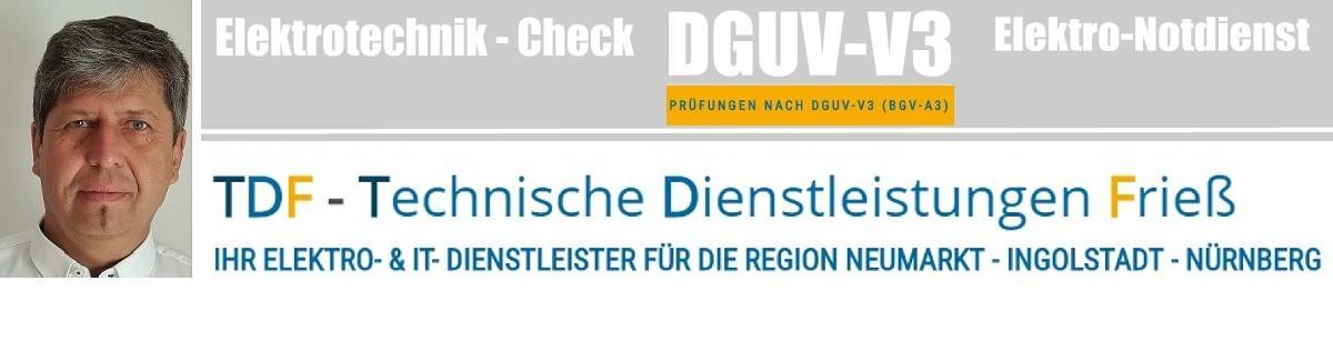 TDF - Frieß:  DGUV-V3  -  Elektrotechnikcheck - Elektronotdienst