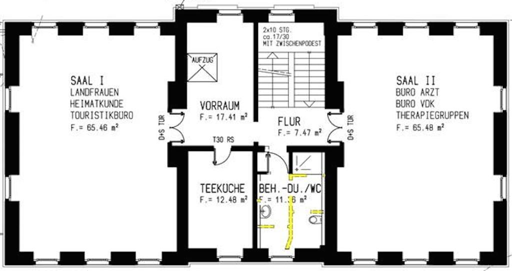 Grundriss Alte Schule Obergeschoss