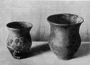 Bild 3: Funde aus der jüngeren Steinzeit 5000- 2000v. Chr. aus einem Grabhügel im Bleichenbacher Wald Foto: Prof. Dr. Richter