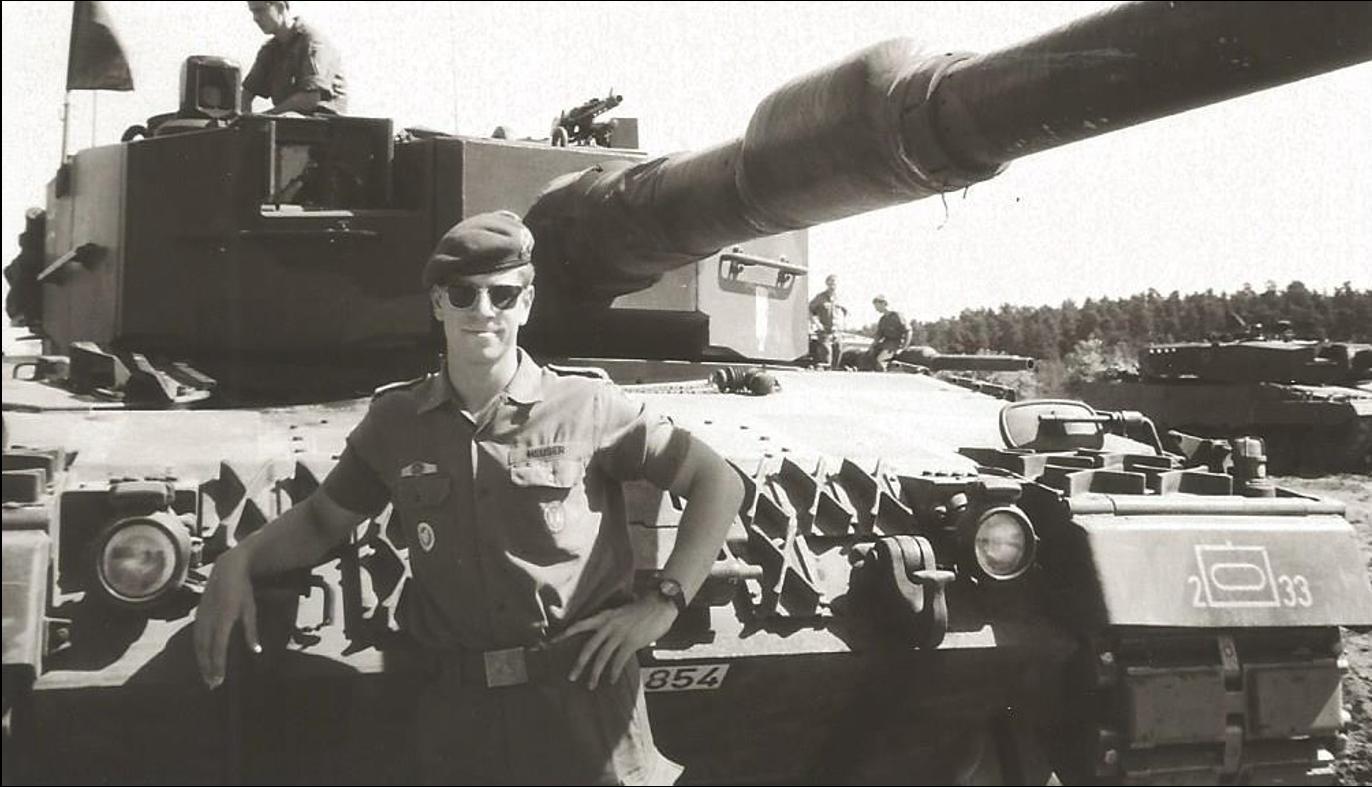Bei einer Bundeswehr-Übung 1989 in Grafenwöhr