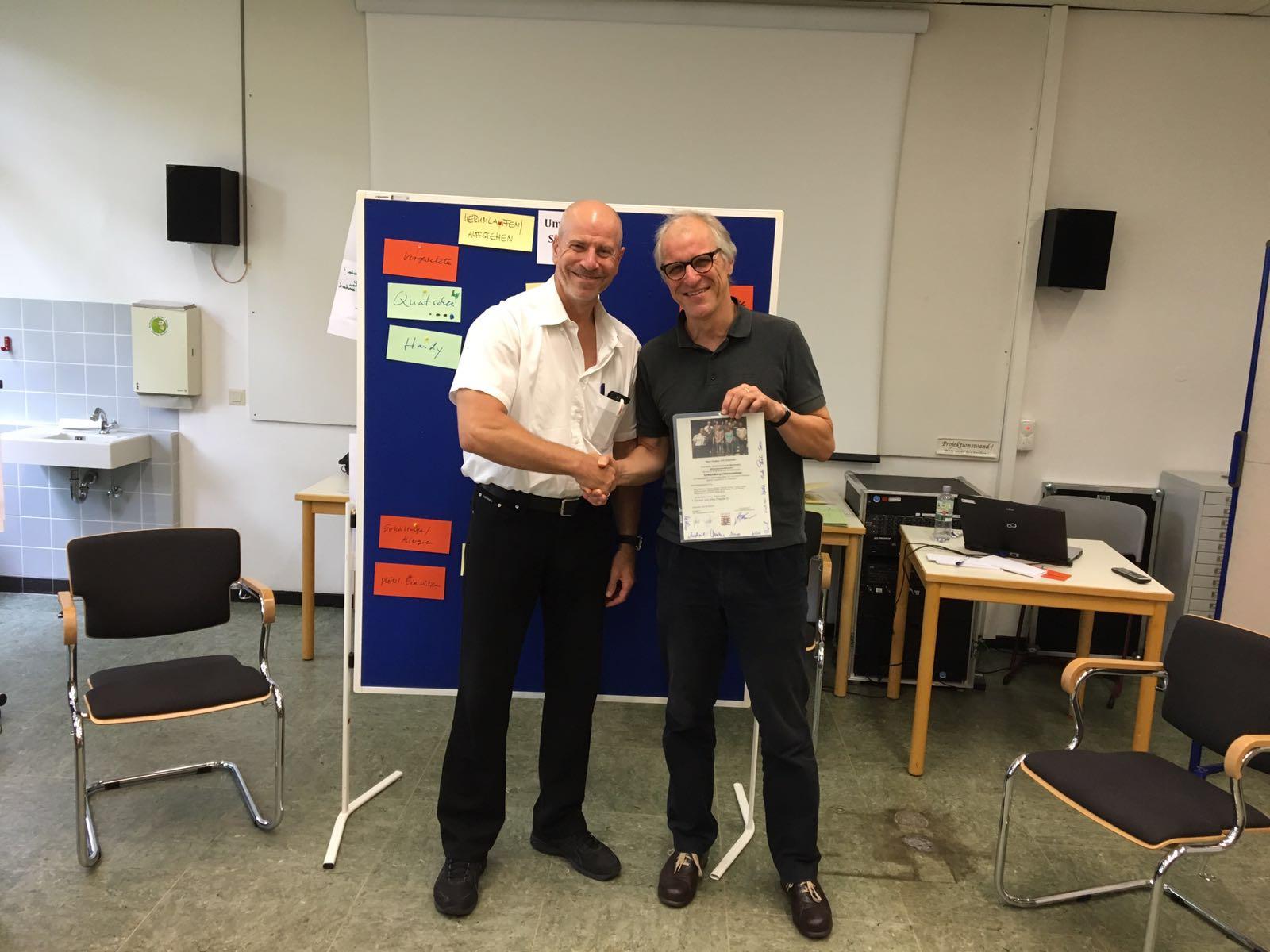 Abschluss eines Urkunden-Pädagogik-Seminars an der Polizeiakademie in Wiesbaden unter meiner Leitung