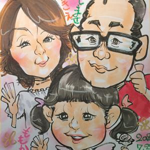 栃木県小山市の似顔絵イベント