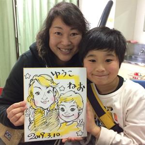 即興似顔絵師が千葉県船橋市へ