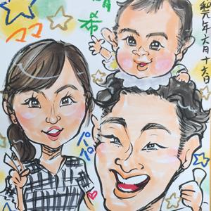 埼玉県川越市へ似顔絵師が出張
