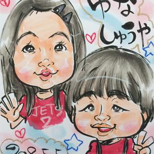 茨城県の出張イベント似顔絵